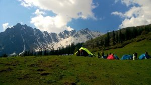 Sar Pass Trek Biskeri Thach Camp Site
